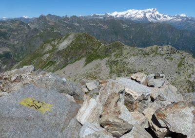 verso il monte Rosa dall cima di Bo - foto di Corrado Martiner Testa