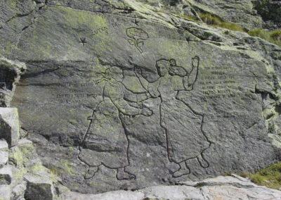incisione al colle della Vecchia, incontro delle valligiane