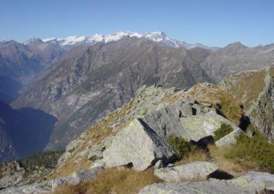 cresta di salita vista dalla punta del monte Cresto