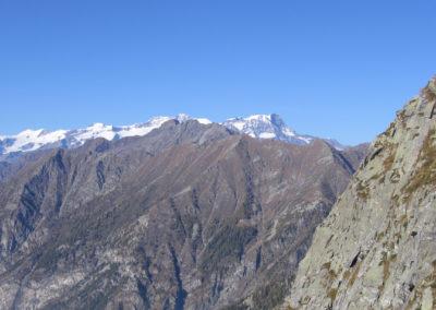 sguardo sul massiccio del monte Rosa